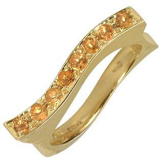 Mood - Quartz Citrines 18K Yellow Gold Ring