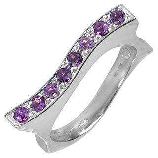 Mood - Amethysts 18K White Gold Ring