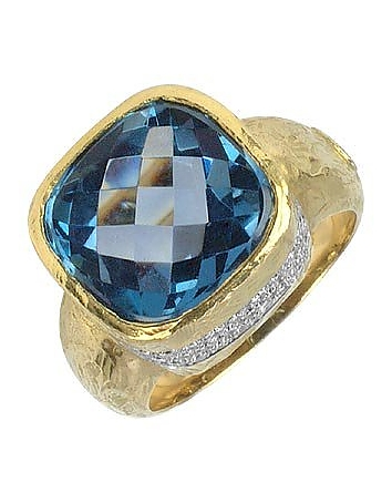 Torrini - Stefy - Topaz and Diamonds Yellow Gold Ring