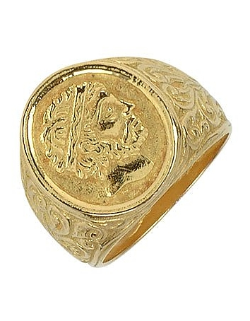 Torrini - Socrates - Engraved Oval Yellow Gold Men's Ring