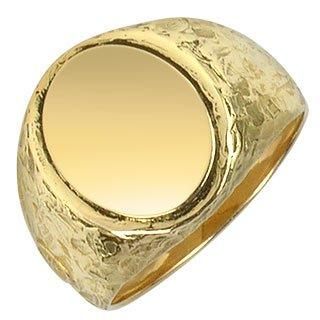 Oval 18K Yellow Gold Men's Ring Better Quality than Blue Nile Diamonds
