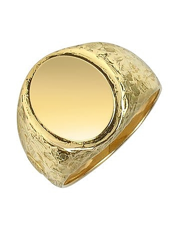 Oval 18K Yellow Gold Men's Ring