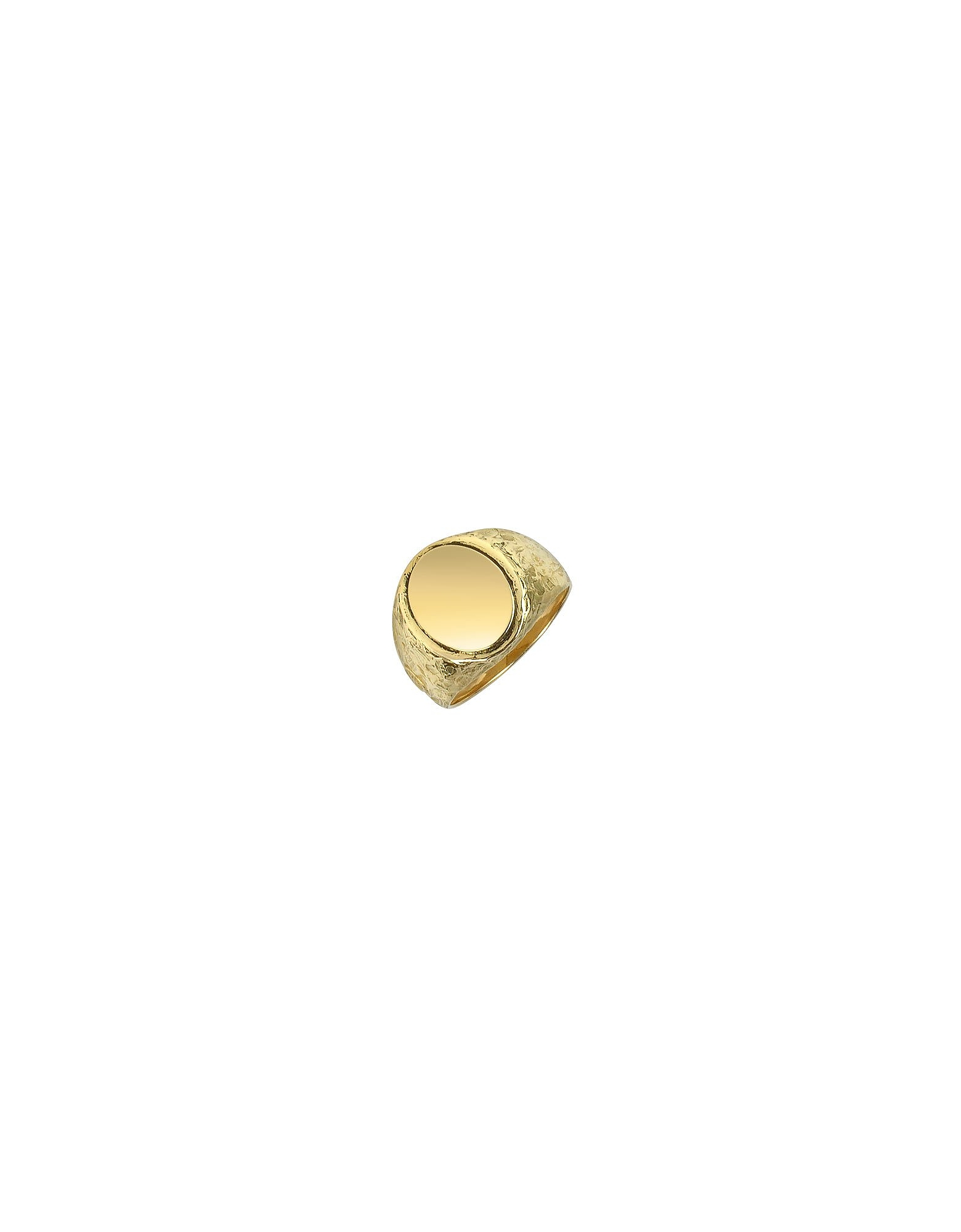 Torrini Men's Rings, Oval 18K Yellow Gold Men's Ring