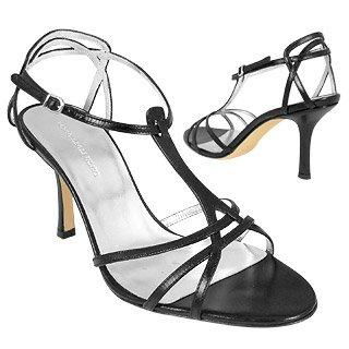 Black Smooth Calf Leather Strappy T-Sandal Shoes Sandal