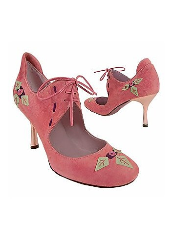Pink Suede Rounded Point Pump Shoes - Borgo degli Ulivi