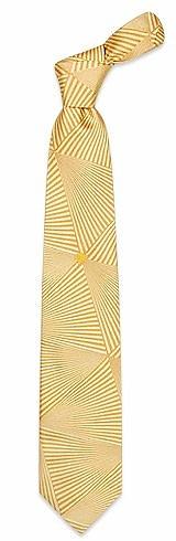 Memorabilia - Orange and Cream Logoed Woven Silk Tie - Versace