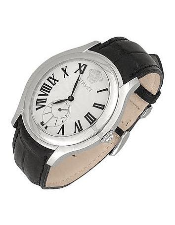 Bond Street -Men's Black Crocodile Leather Watch