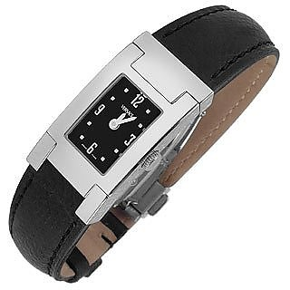 ON FIFTH -LADIES' BLACK LEATHER WATCH