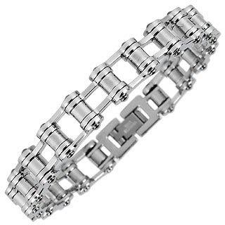 Zoppini Men's Polished Stainless Steel Link Bracelet