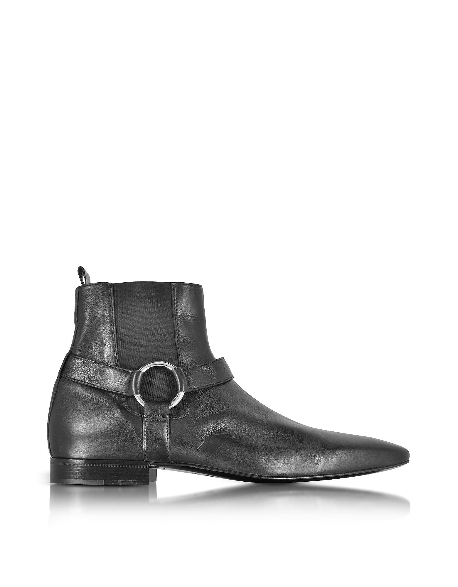 Фото Reed - Черные Ботинки из Кожи Наппа. Купить с доставкой