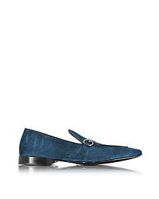 Blue Suede Loafer Shoe - Cesare Paciotti