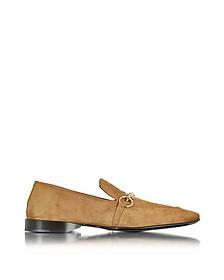 Cognac Suede Loafer Shoe - Cesare Paciotti