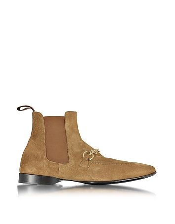 Cognac Suede Low Boot