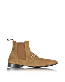 Cognac Suede Low Boot - Cesare Paciotti