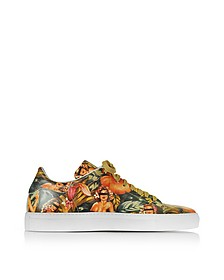 Sneaker Low Top in Pelle Stampa Pin Up - Cesare Paciotti