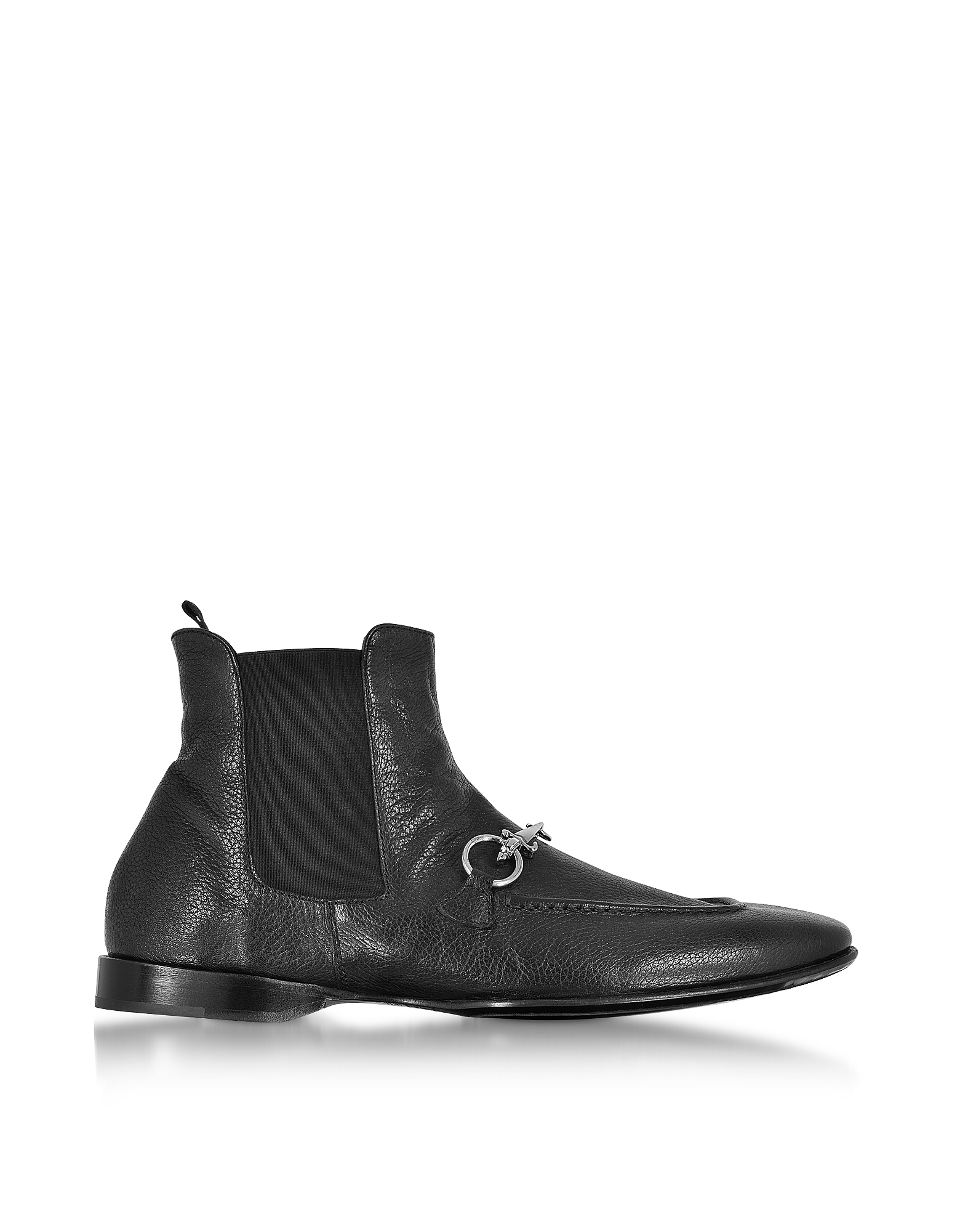 Cesare Paciotti Shoes, Black Buffalo Leather Boots
