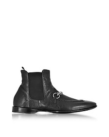 Black Buffalo Leather Boots - Cesare Paciotti