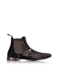 Boots en Velours Marron Foncé - Cesare Paciotti