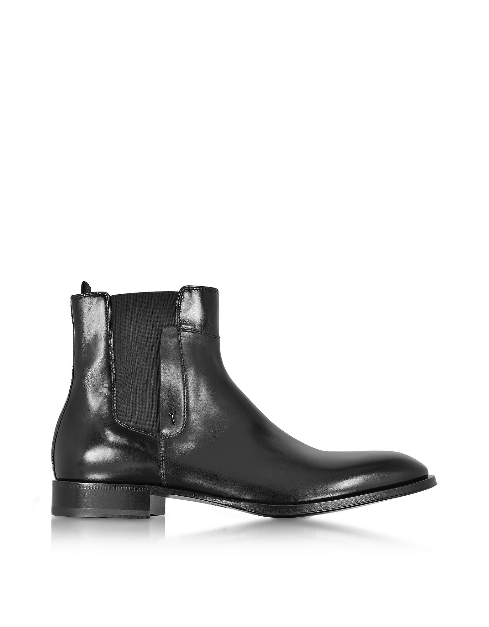 Фото Черные Ботинки из Кожи. Купить с доставкой