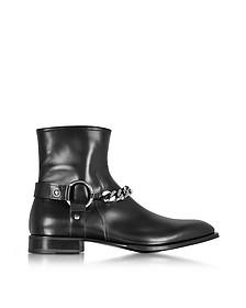 Boots Homme en Cuir Noir avec Chaîne - Cesare Paciotti