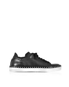 Black Aged Leather Men's Sneakers - Cesare Paciotti