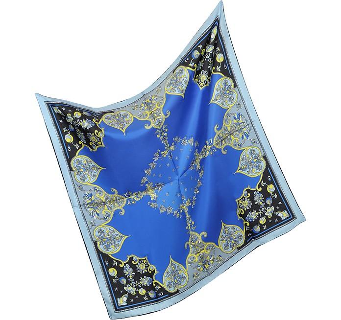Tsarina - Floral Twill Silk Square Scarf - Emilio Pucci
