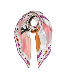 Optical Print Twill Silk Square Scarf - Emilio Pucci