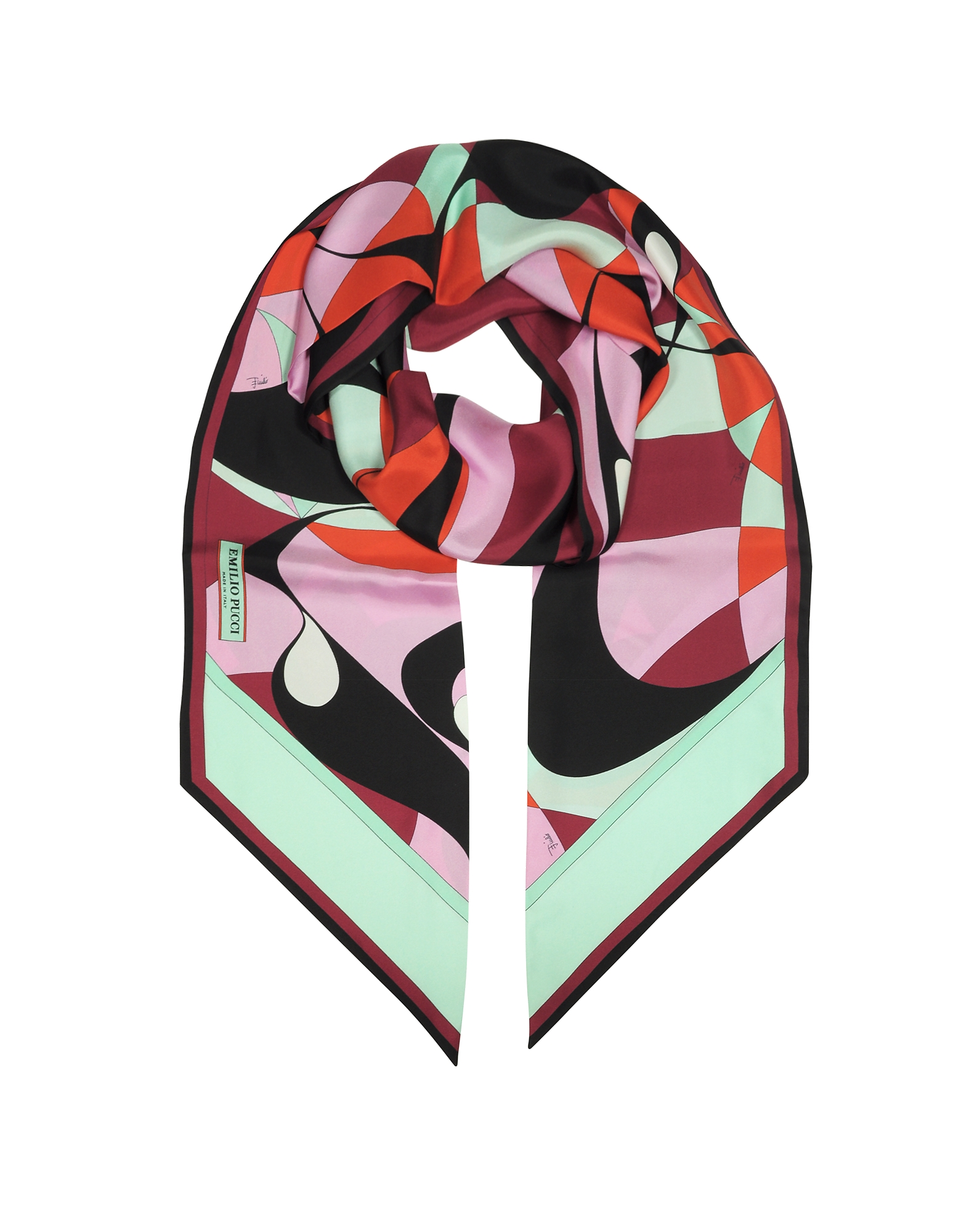 Alex Two-Tone Abstract Print Silk Stole