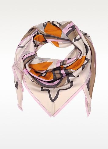 Winter Capri Silk Triangle Scarf - Emilio Pucci