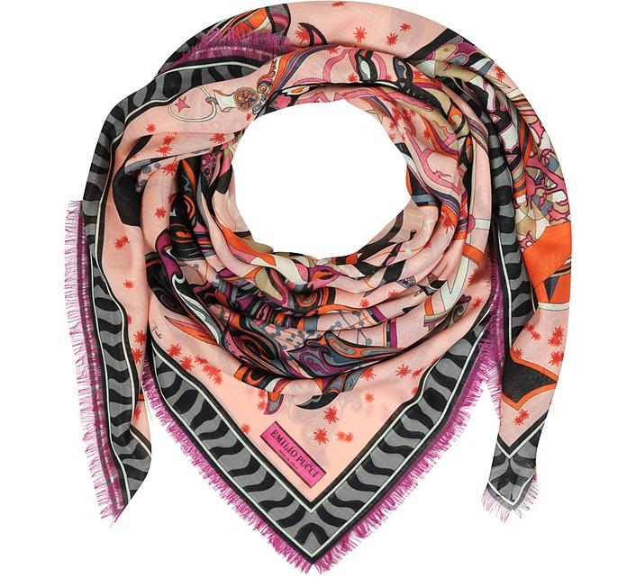 Zodiac Print Wool and Silk Wrap - Emilio Pucci