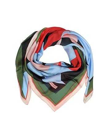 Emilio Pucci - Multicolor Floral Print Silk Shawl