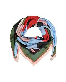Châle en Soie Multicolore Imprimé Floral - Emilio Pucci