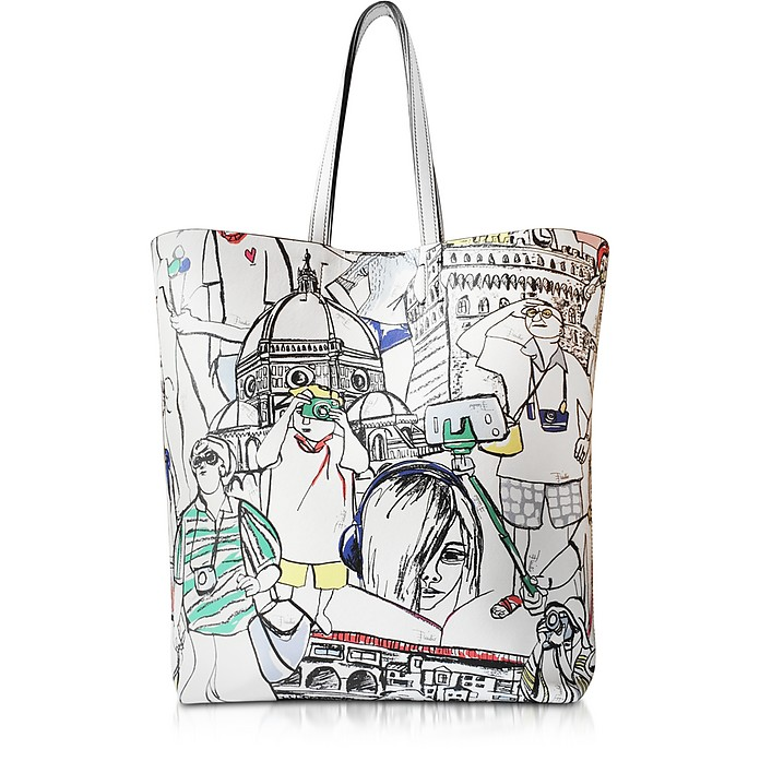 Florence Printed Leather Tote Bag - Emilio Pucci