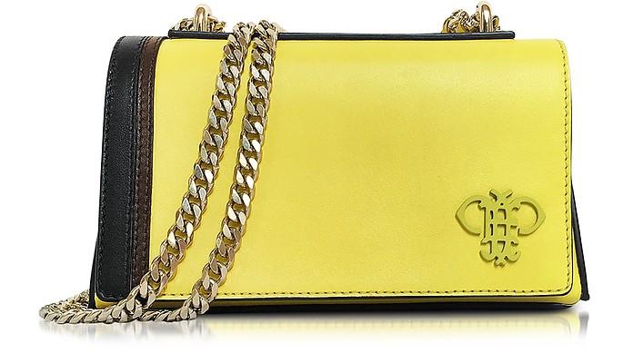 Chartreuse Leather Shoulder Bag w/Chain Strap - Emilio Pucci