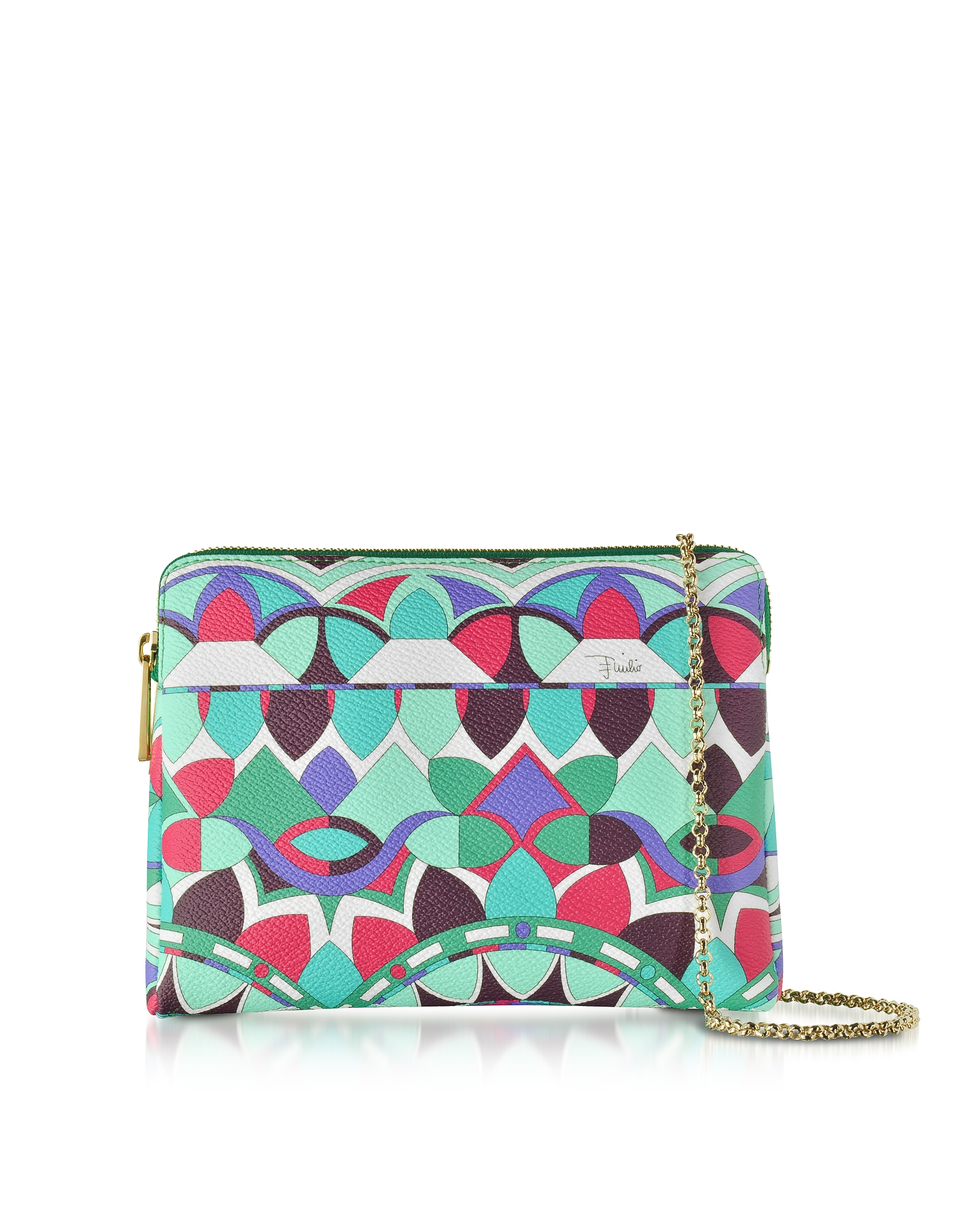 Emilio Pucci Handbags, Optical Printed Leather Clutch