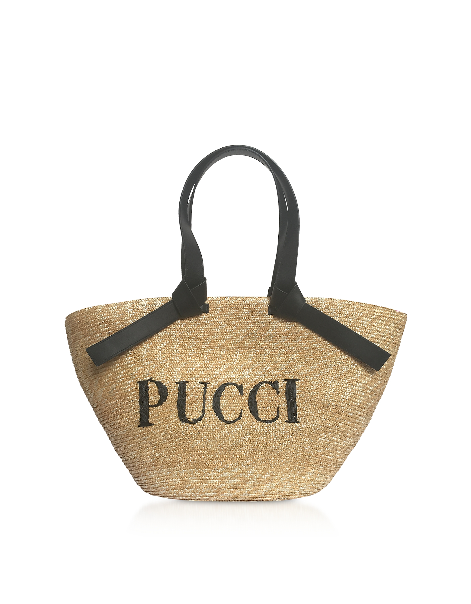 Emilio Pucci Handbags, Raffia Signature Bucket Bag