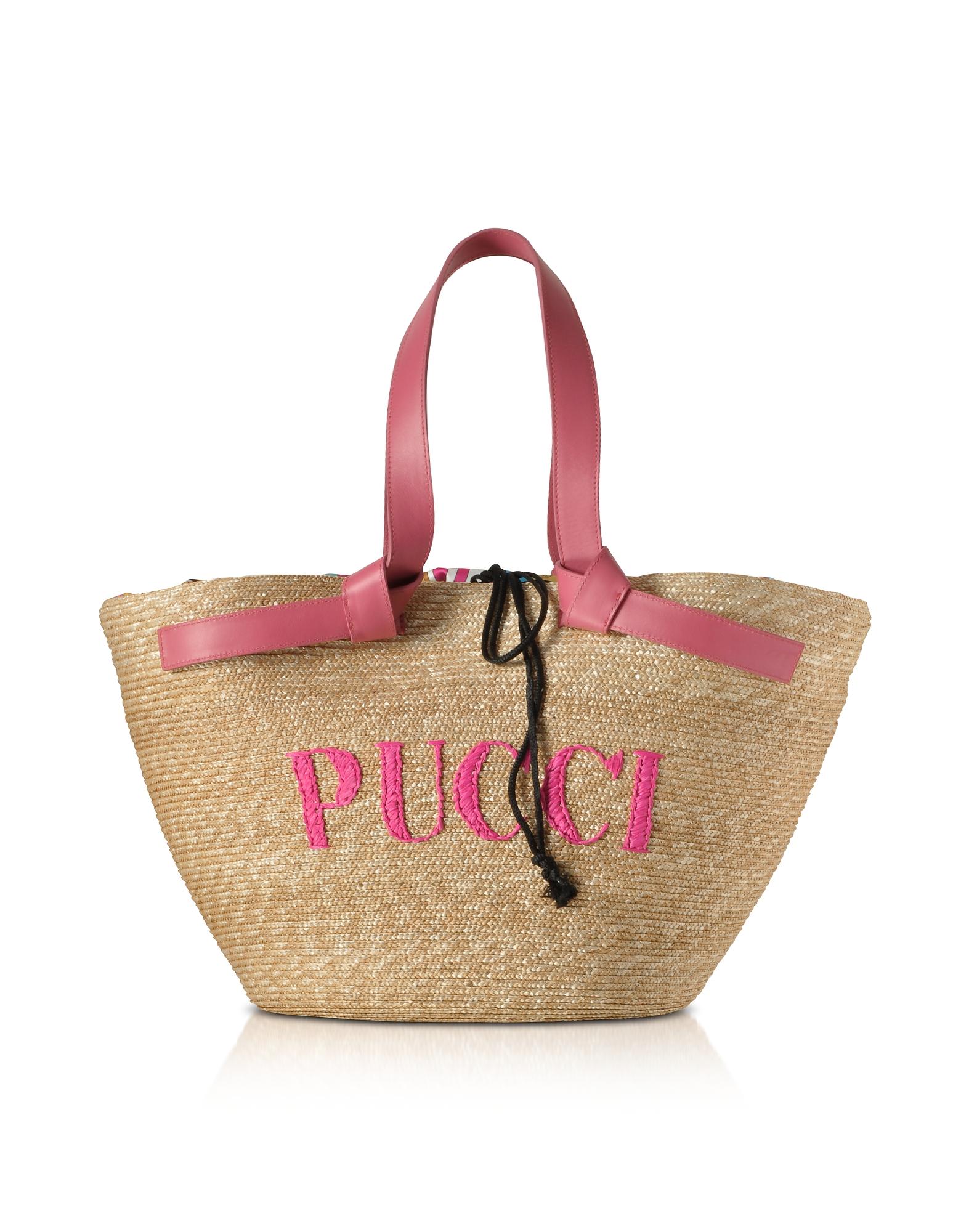 Raffia Signature Bucket Bag