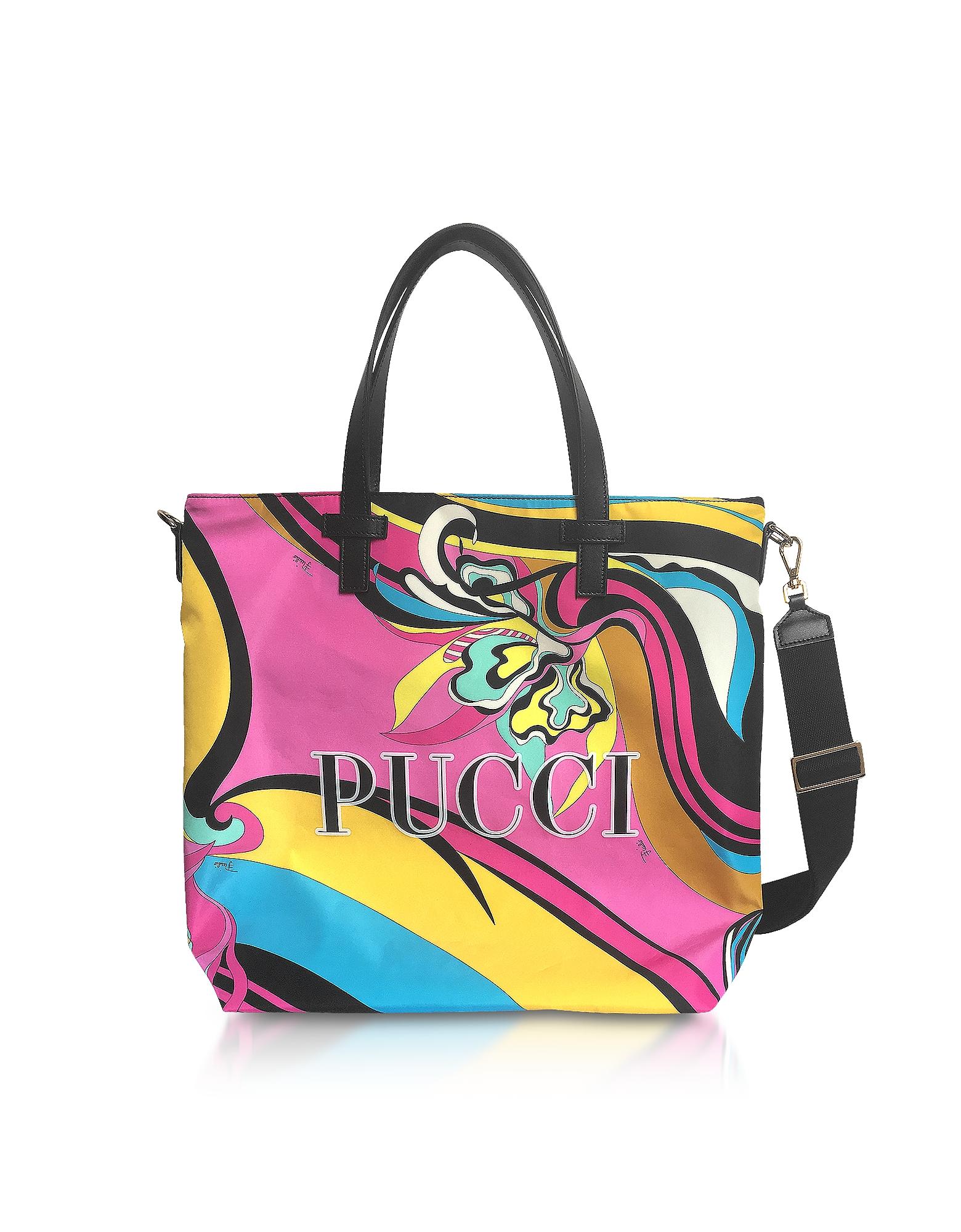 Emilio Pucci Handbags, Signature Printed Canvas Tote Bag