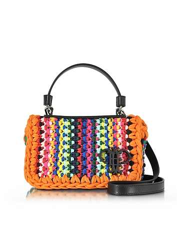 Multicolor Cotton Blend Shoulder Bag
