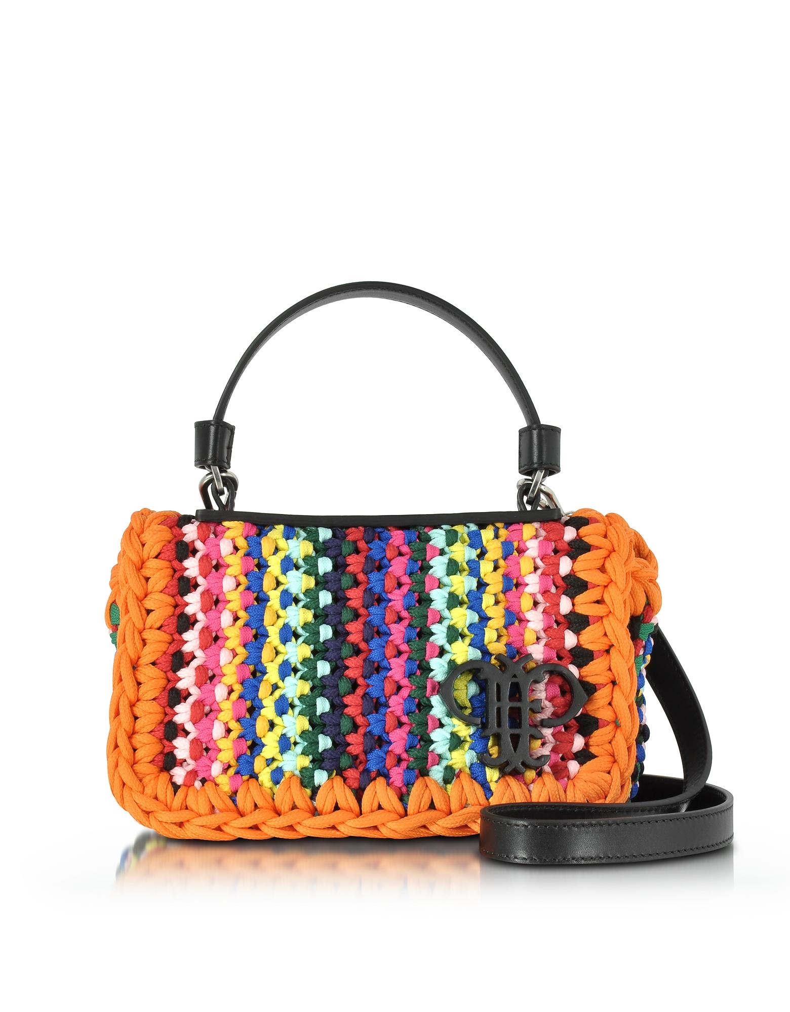 Фото Разноцветная Сумка на Плечо из Смеси Хлопка. Купить с доставкой