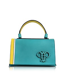 Light Blue Leather Shoulder Bag - Emilio Pucci