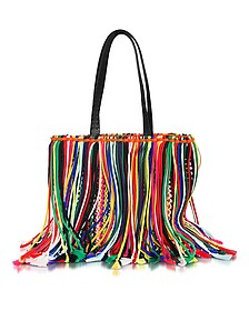 Multicolor Fringed Knot Canvas Tote - Emilio Pucci