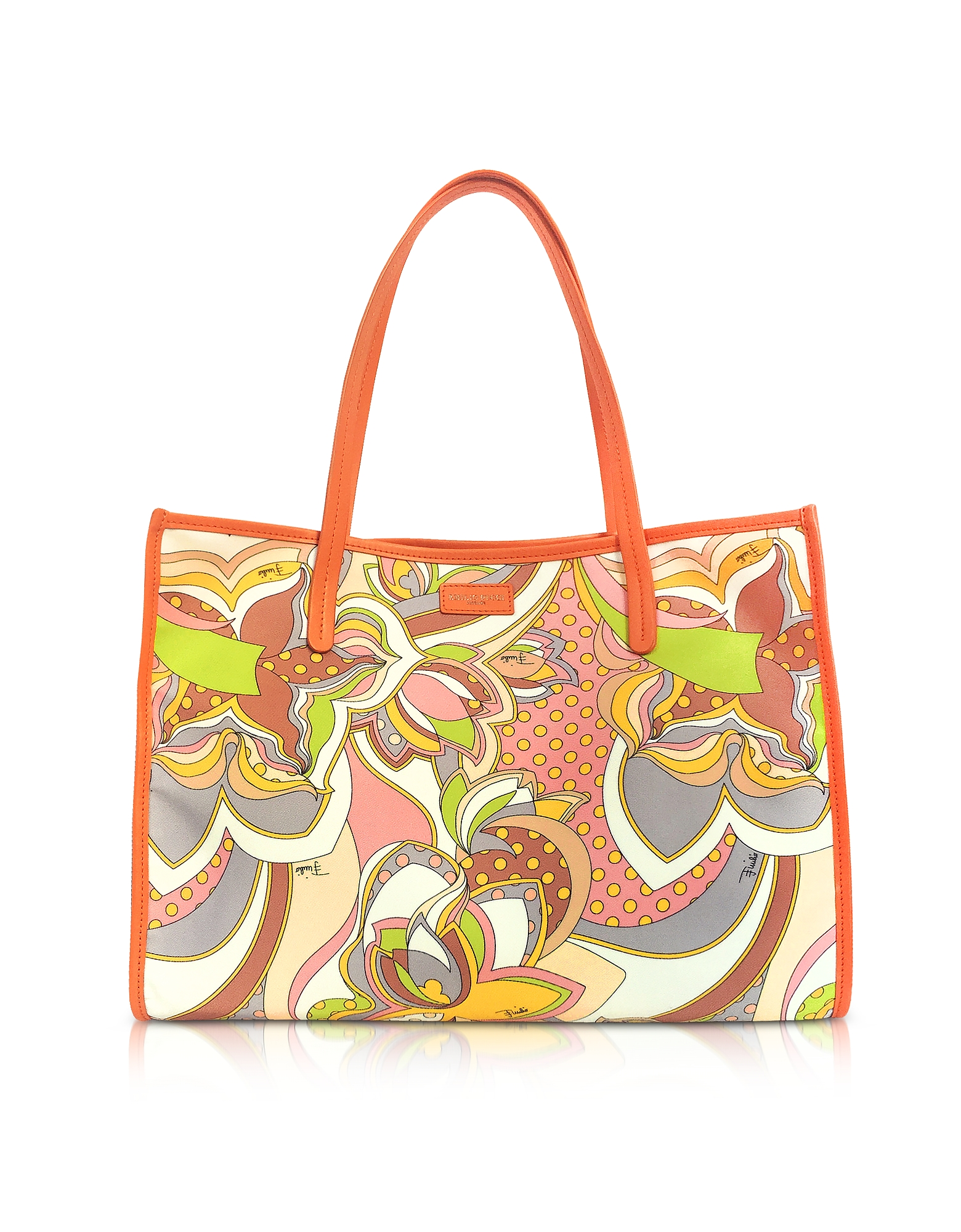 Emilio Pucci Handbags, Sun Yellow Fabric Tote Bag