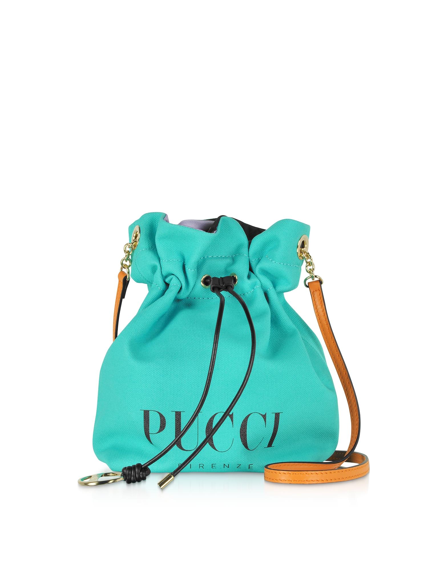 Emilio Pucci Designer Handbags, Signature Mini Bucket Bag