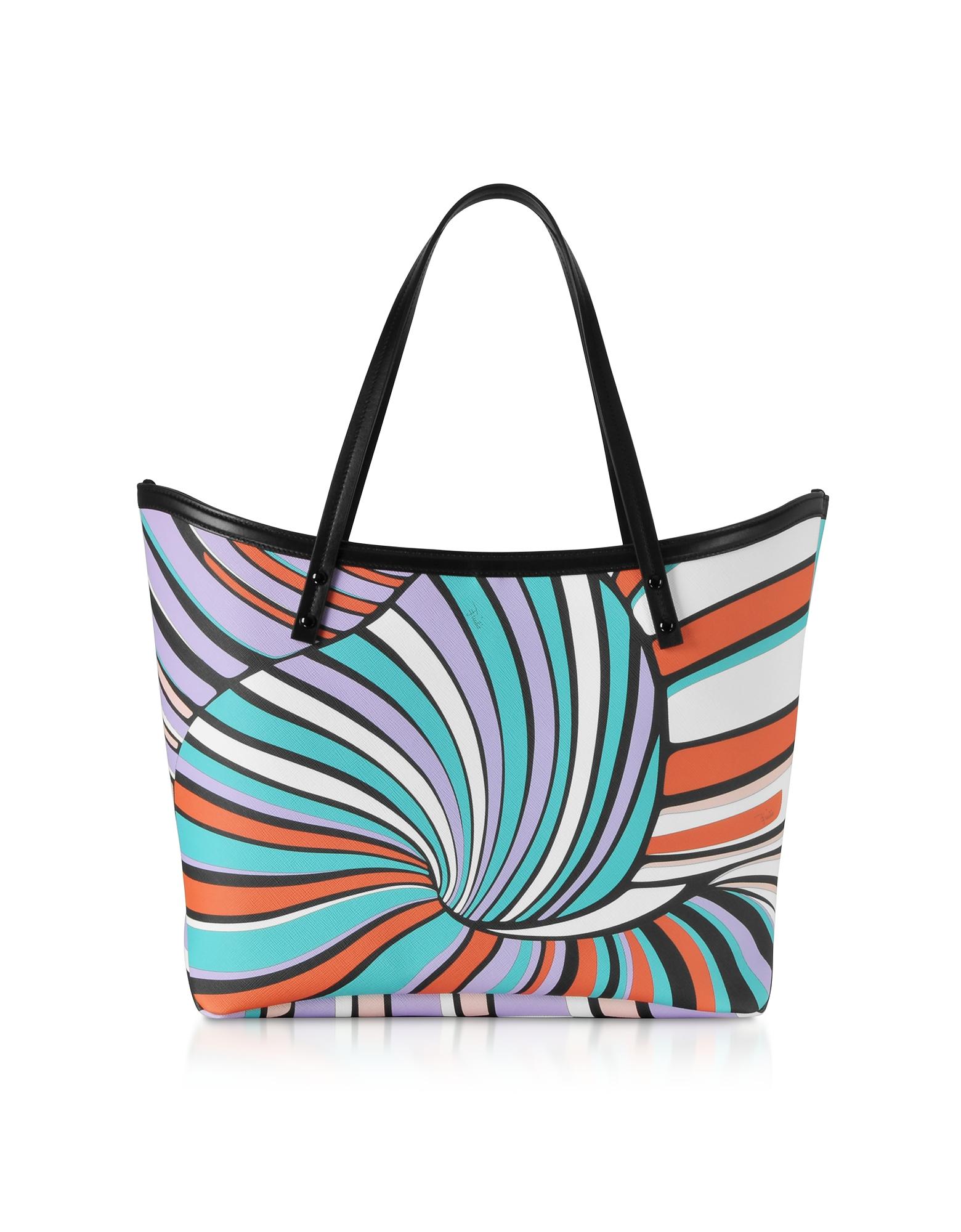 Lilac and Aqua Tote Bag w/Pouch