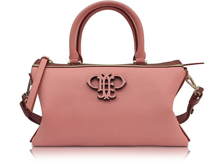 Shell Pink Leather Boston Bag - Emilio Pucci