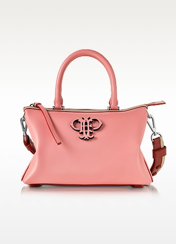 Shell Pink Leather Boston Bag - Emilio Pucci
