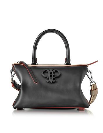 Black Leather Boston Bag