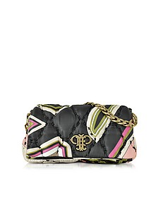 Nude and Multicolor Quilted Fabric Shoulder Bag - Emilio Pucci