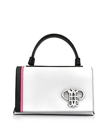 Emilio Pucci - Mini Pilot Optic White Leather Shoulder Bag